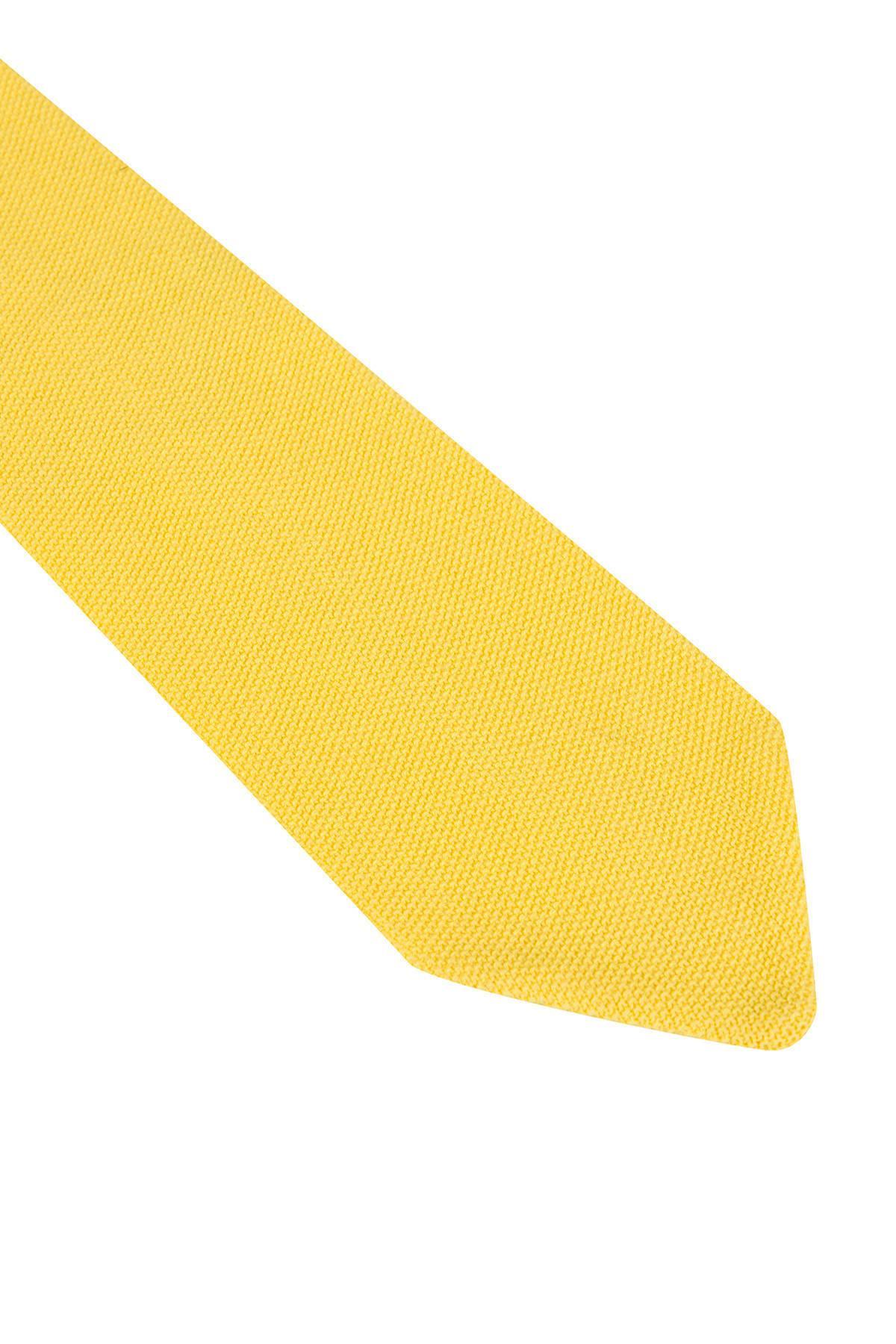 Pike Örgü Sarı Triko Kravat