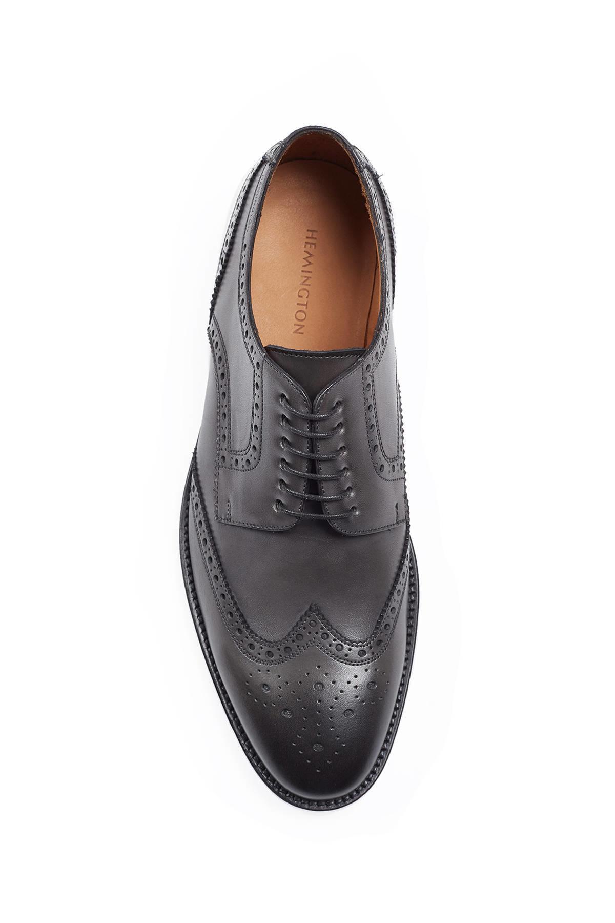 El Yapımı Siyah Klasik Deri Ayakkabı