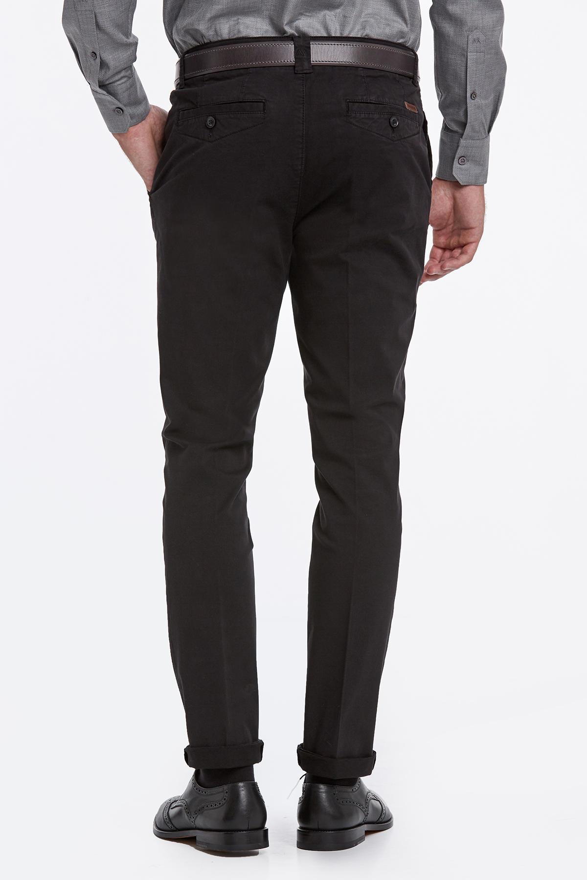 Siyah Pamuk Chino Pantolon