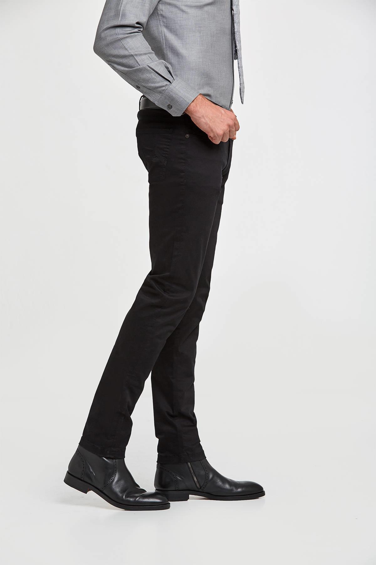 Slim Fit Siyah 5 Cep Pantolon