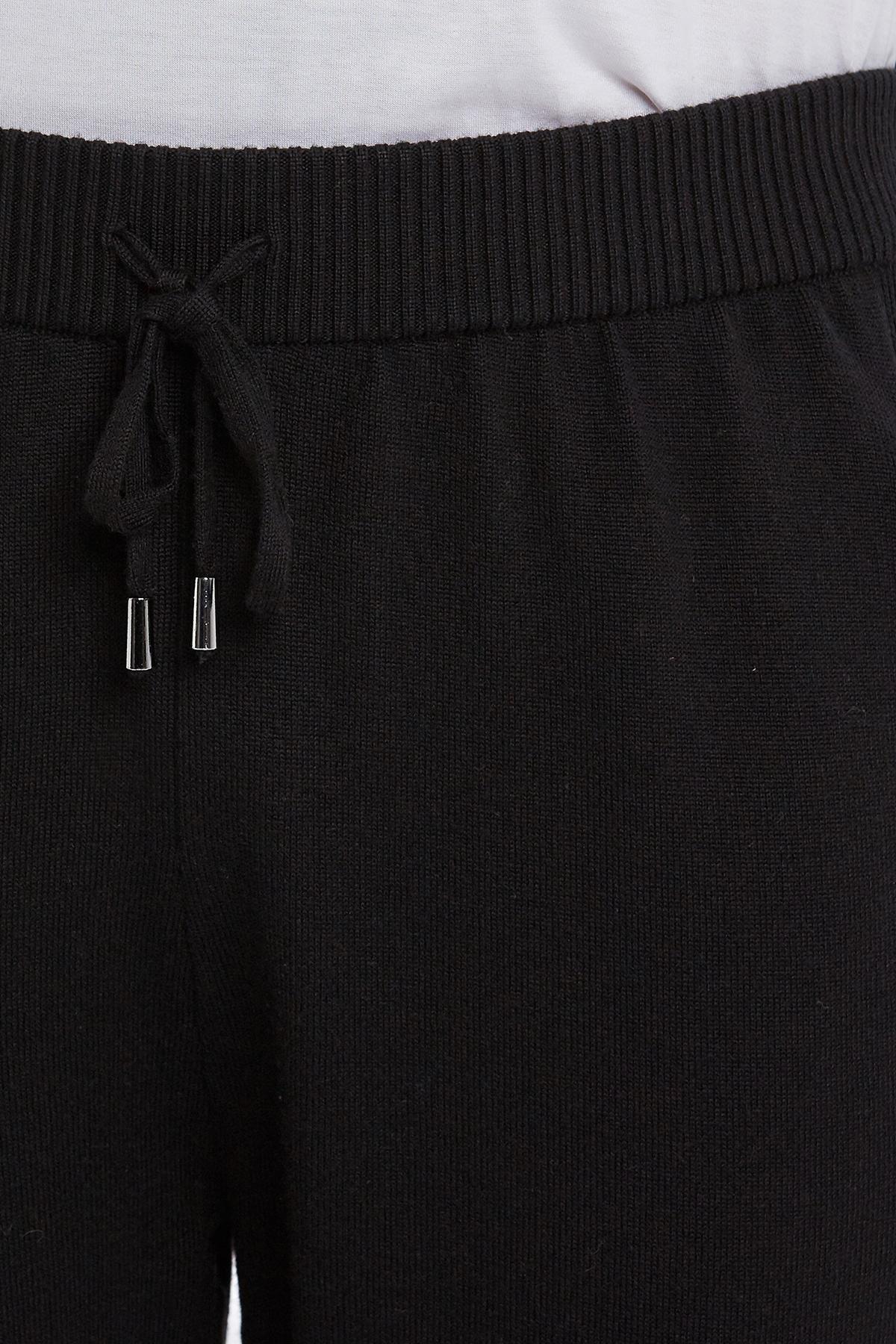 Merino Yün Siyah Activewear Triko Pantolon