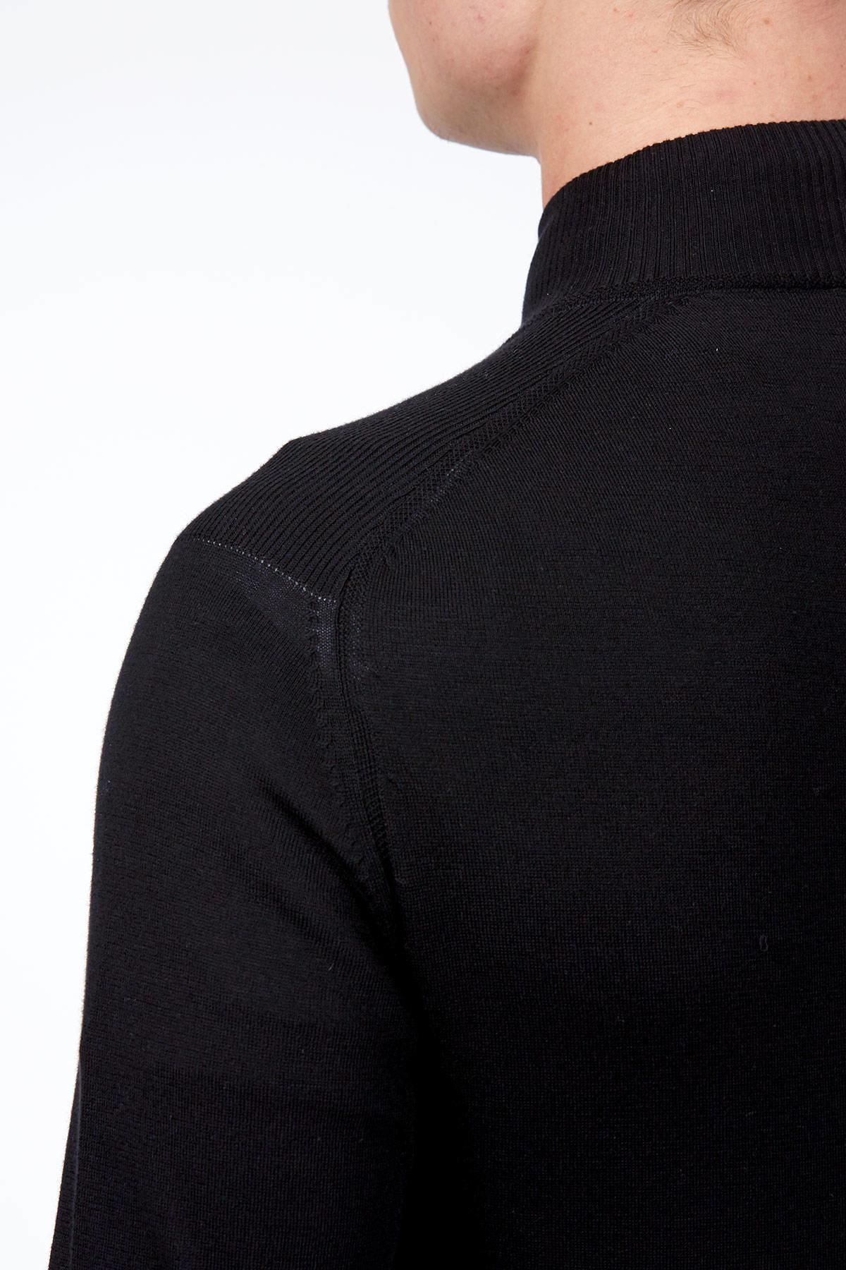 Siyah Spor Triko Ceket