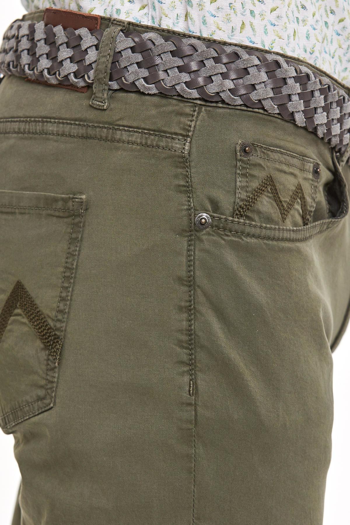 Slim Fit 5 Cep Haki Yazlık Pantolon