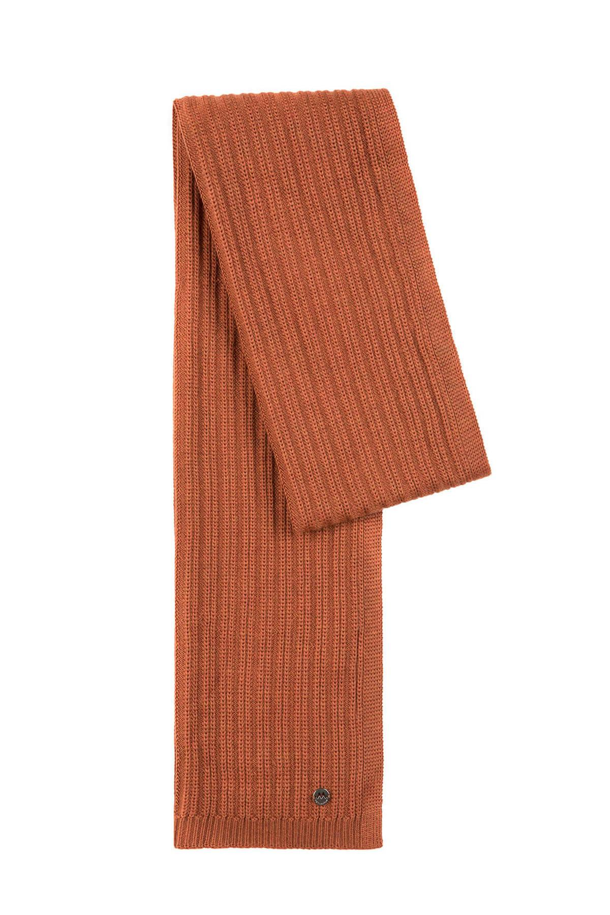 Terracotta Merino Yün Atkı