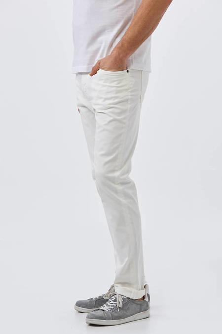 Beyaz Slim Fit Spor Kanvas Pantolon