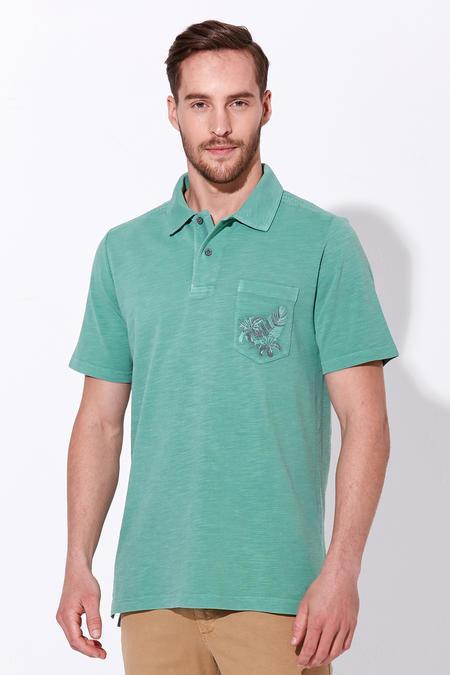 Yeşil Vintage Polo Yaka T-Shirt