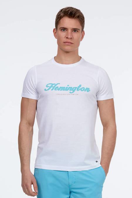 Baskılı Beyaz T-Shirt