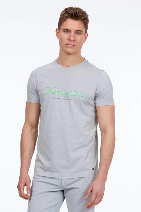 Baskılı Gri T-Shirt