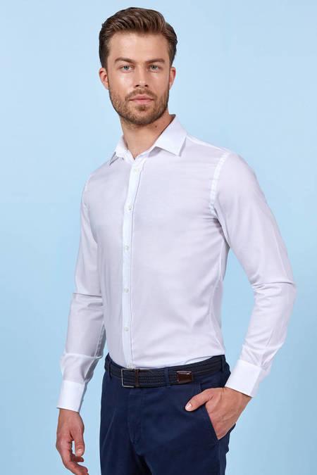 Beyaz Non-Iron Business Gömlek