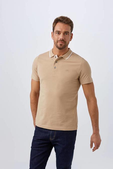 Camel Polo Yaka T-Shirt
