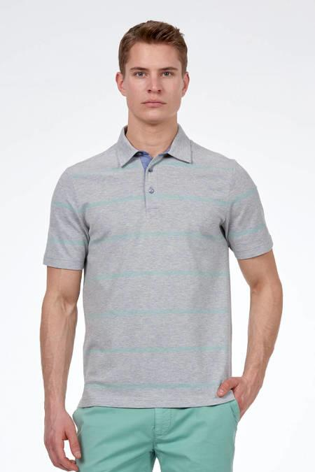 Gri Polo Yaka T-Shirt