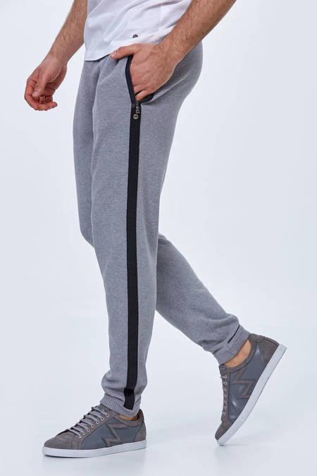 Giza Pamuk Gri Triko Lounge Pantolon