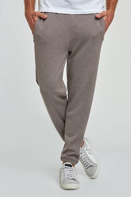 Merino Yün Kum Rengi Activewear Spor Triko Pantolon