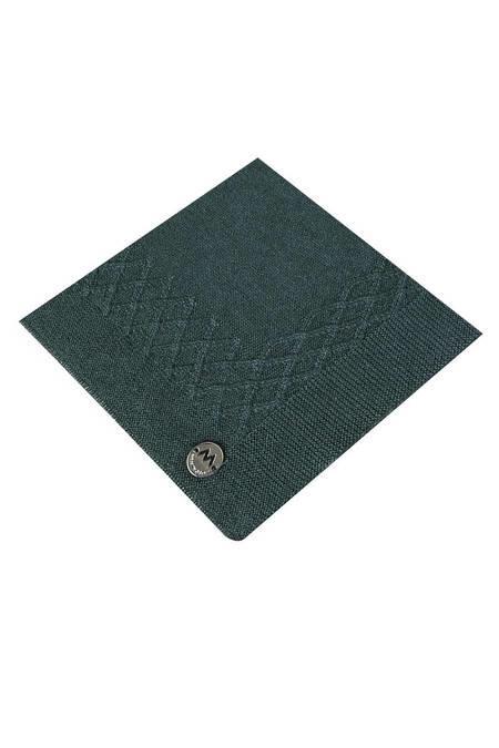 İpek Koyu Yeşil Örgü Ceket Mendili