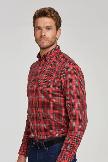 Kareli Kırmızı Flanel Gömlek