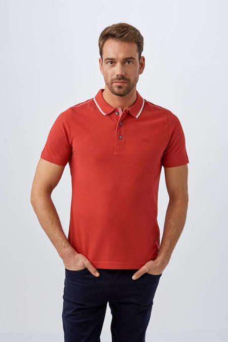 Kırmızı Polo Yaka T-Shirt