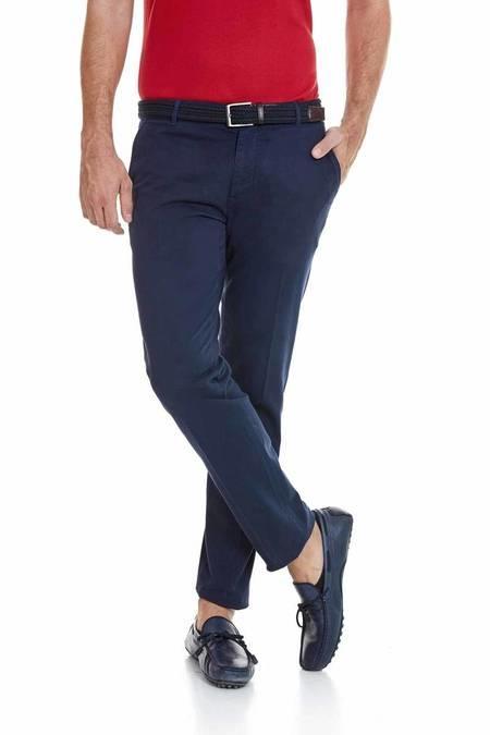 Lacivert Kanvas Pantolon