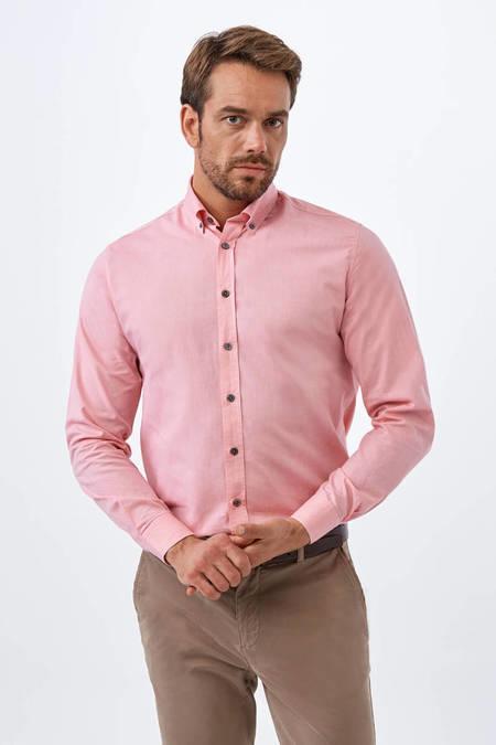 Pembe Oxford Spor Gömlek