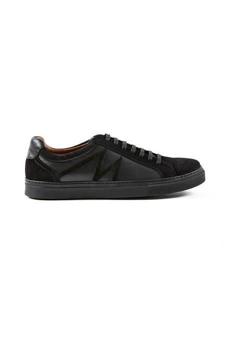 Siyah Deri Sneakers