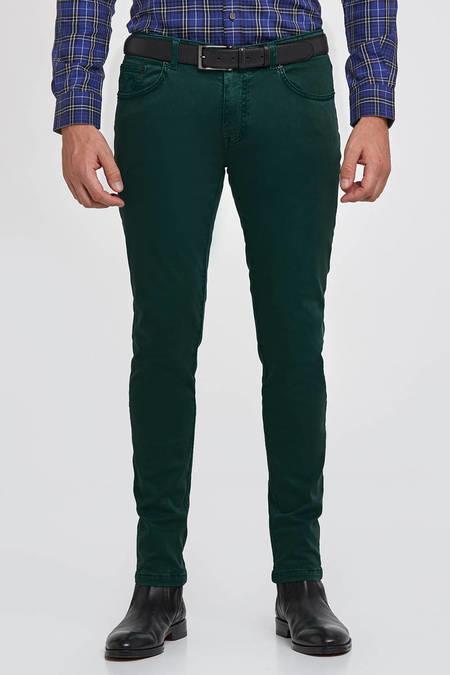 Slim Fit Koyu Yeşil 5 Cep Pantolon