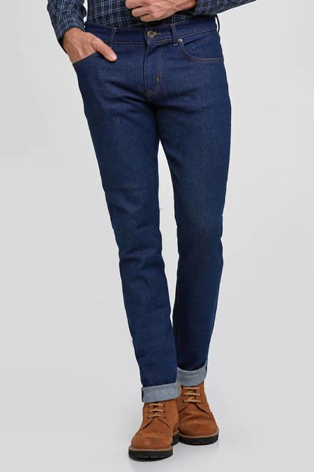 Slim Fit Lacivert Denim Pantolon