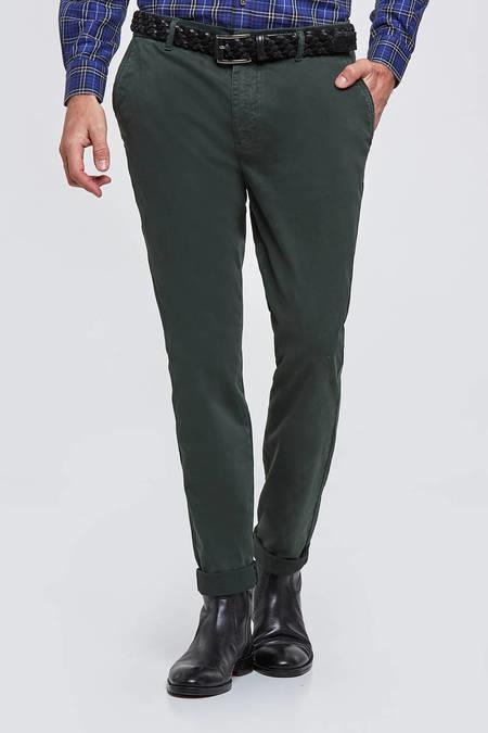 Slim Fit Yeşil 5 Cep Pantolon